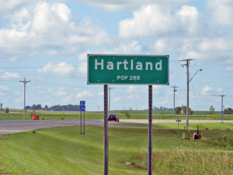 Population sign, Hartland Minnesota, 2010