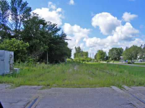 Now unused railroad tracks, Hartland Minnesota, 2010