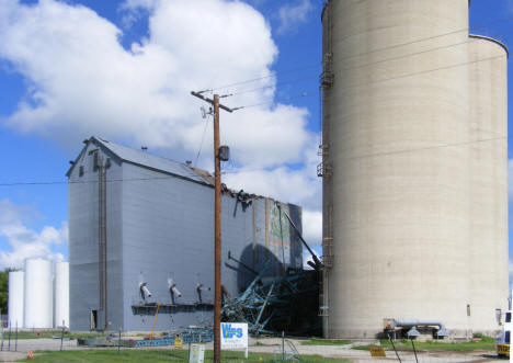 Grain elevator after fire, Hartland Minnesota, 2010