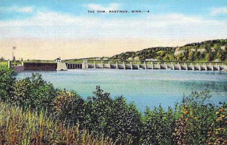 Mississippi River Dam, Hastings Minnesota, 1930's