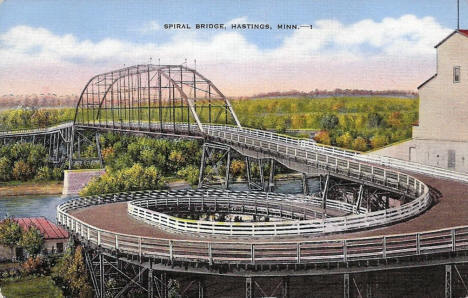 Spiral Bridge, Hastings Minnesota, 1930's