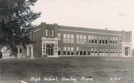 High School, Hawley Minnesota, 1940's?