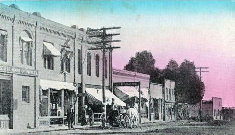 Sixth Street South, Hawley Minnesota, 1900's