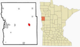 Location of Hawley, Minnesota