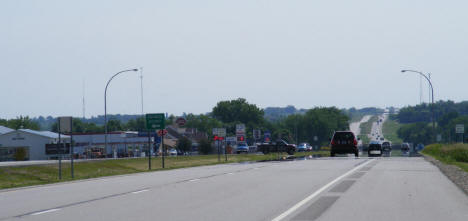 Street scene on Highway 2, Hawley Minnesota, 2008