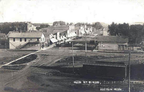 Main Street, East Side, Hector Minnesota, 1910