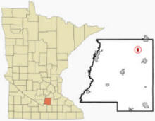 Location of Heidelberg, Minnesota