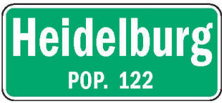 Heidelberg Minnesota population sign