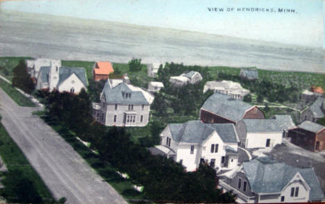 View of Hendricks Minnesota, 1910's