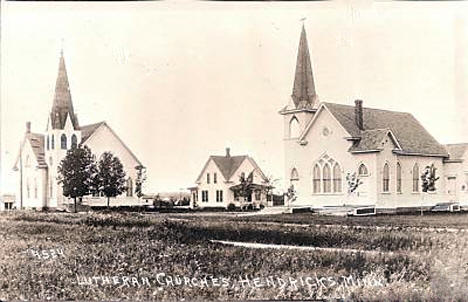 Lutheran Churches, Hendricks Minnesota, 1910's?