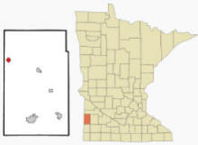 Location of Hendricks, Minnesota
