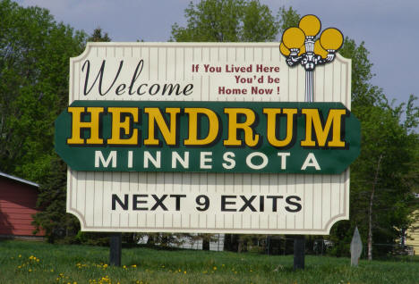 Hendrum Minnesota Welcome Sign, 2008