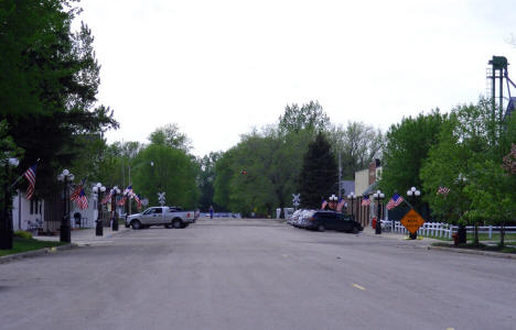 Street scene, Downtown Hendrum Minnesota, 2008