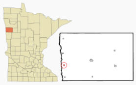 Location of Hendrum, Minnesota