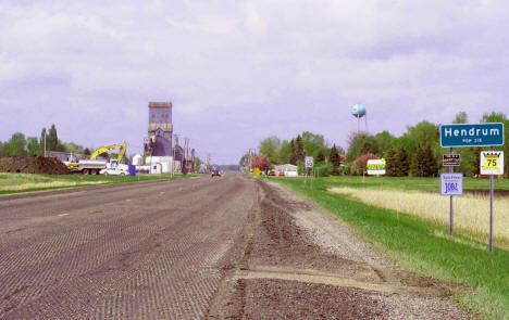 View entering Hendrum Minnesota, 2008