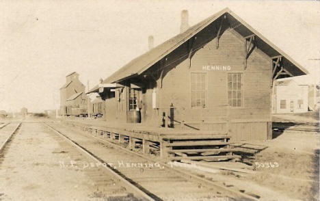 Northern Pacific Depot, Henning Minnesota, 1910's