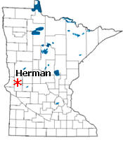 Location of Herman Minnesota
