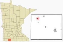 Location of Heron Lake, Minnesota