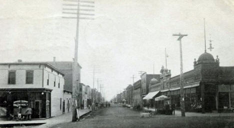 Third Avenue looking south, Hibbing Minnesota, 1906
