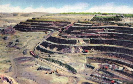 Hull Rust Iron Mine, Hibbing Minnesota, 1948
