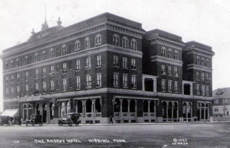 The Androy Hotel, Hibbing Minnesota, 1921