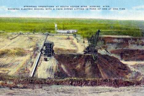 South Agnew Mine, Hibbing Minnesota, 1940's