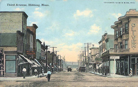 Third Avenue, Hibbing Minnesota, 1910