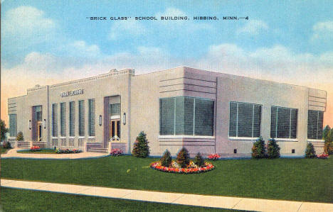 Park School - the Brick Glass School Building - Hibbing Minnesota, 1940's
