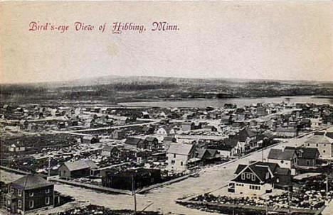 Birds eye view of Hibbing Minnesota, 1910's?