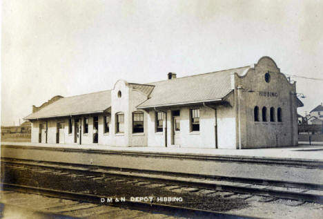 Duluth Mesaba and Northern Depot in Hibbing Minnesota, 1912