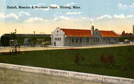 Duluth, Messaba and Northern Depot, Hibbing Minnesota, 1910