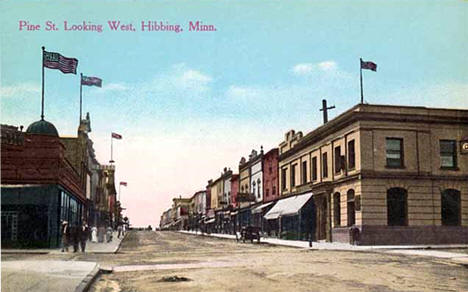 Pine Street looking west, Hibbing Minnesota, 1910