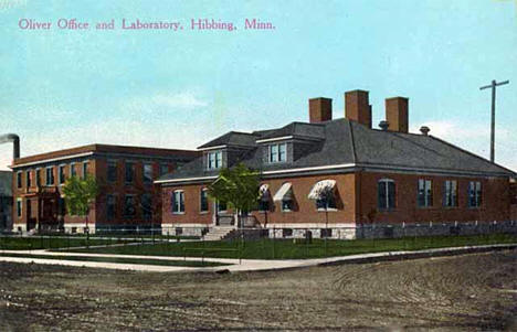 Oliver Mining Office and Laboratory, Hibbing Minnesota, 1915