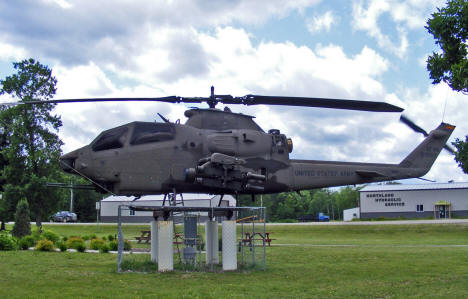 Army Helicopter in Veterans Park, Hill City Minnesota, 2009