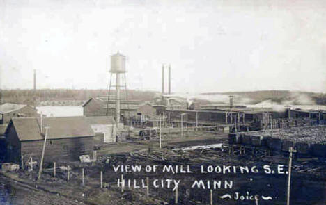 View of Mill looking southeast, Hill City Minnesota, 1912