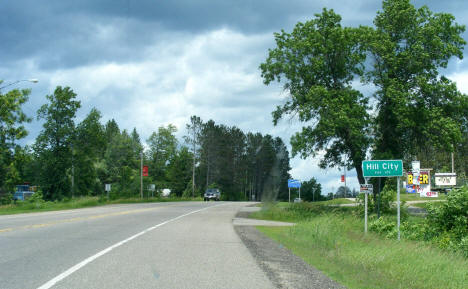 Entering Hill City on US Highway 169 from the south, 2009