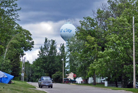 Street scene and Water Tower, Hill City Minnesota, 2009