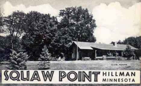 Squaw Point Club House, Hillman Minnesota, 1950's