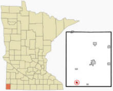 Location of Hills, Minnesota