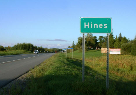 Hines highway sign on US Highway 71, 2004