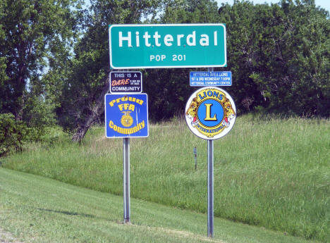 Population sign, Hitterdal Minnesota, 2008