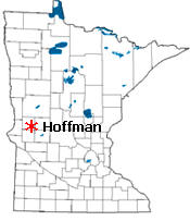 Location of Hoffman Minnesota