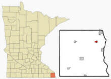 Location of Hokah, Minnesota