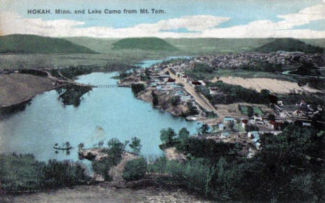 Hokah Minnesota and Lake Como from Mount Tom, 1909