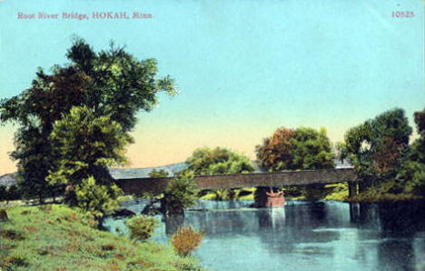 Root River Bridge, Hokah Minnesota, 1910's