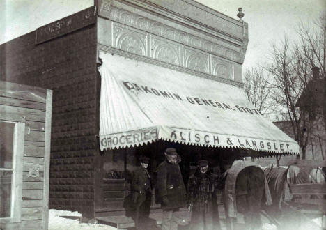 Klisch & Langset Store in Holdingford Minnesota, early 1900's