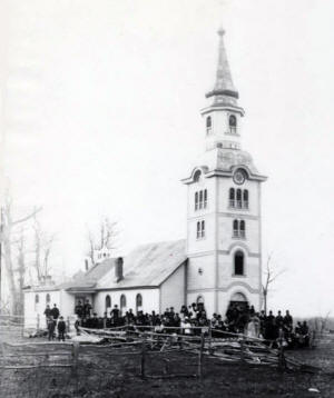 St. Hedwig Catholic Church, Holdingford Minnesota, 1887