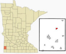 The location of Holland, Minnesota