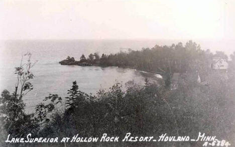 Hollow Rock Resort, Hovland Minnesota, 1940's
