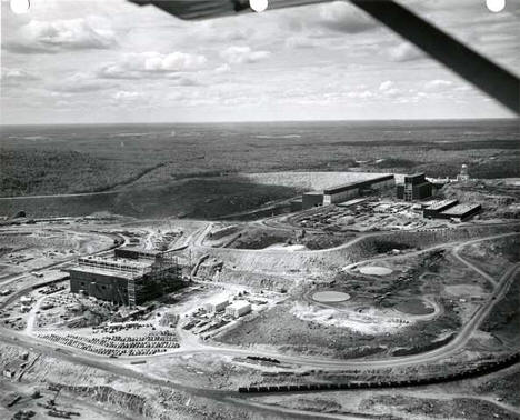 Course crusher building at Erie Mining Company Plant, Hoyt Lakes Minnesota, 1950